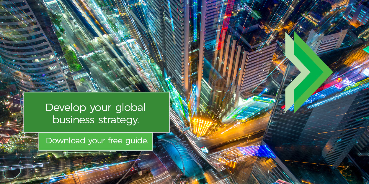 Develop your global business strategy.